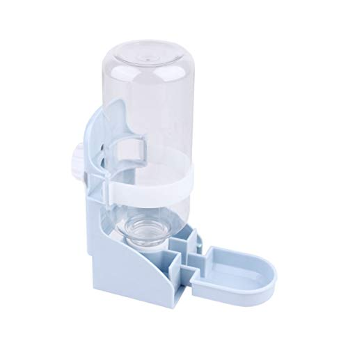 Balacoo 500 Ml Pet Water Feeder Hamster Automatische Wasserspender Wasserbehälter Käfig Montiert Flasche für Hamster Kaninchen Gerbil (Blau)