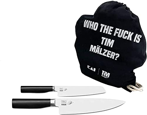 Estuche de regalo Palatina Werkstatt  Kai Shun Tim Mälzer Kamagata | 2 cuchillos + bolsa de gimnasia Who The Fuck is Tim Mälzer
