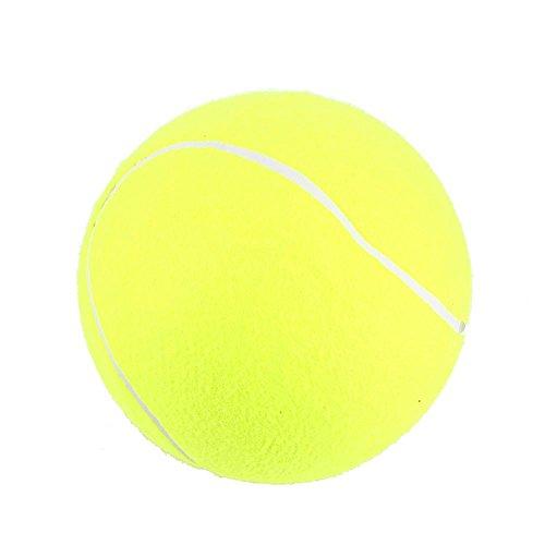 Zerone Pet Balls Tennisbälle, Hundespielzeug Ball, Spielzeug für Haustiertraining, 24,1 cm großer Tennisball Haustierspielzeug Mega Jumbo Hunde Spielzubehör Spaß Outdoor Sport Strand Produktname: