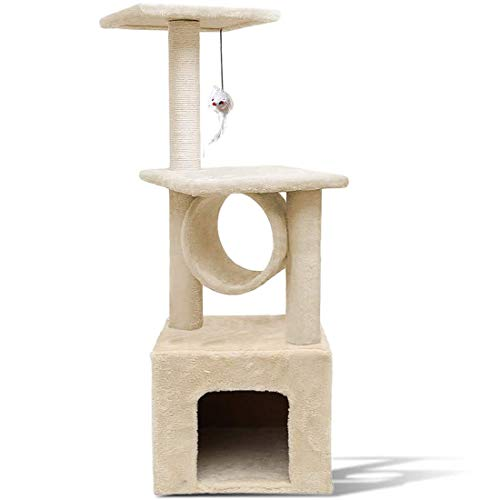 Zone Tech Pet Cat Tower Tree - Premium Quality Large Multi-Level Safe Cat Tree Stand House with Scratching Posts Tower Playing Spot Condo