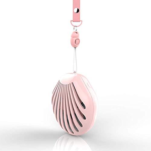 WNTHBJ Mini-USB-ventilator, draagbaar design, 4-in-1 (USB + make-up spiegel + nachtlampje + halsband) om aan je behoeften te voldoen.