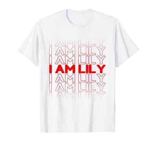 Bolsa de plástico personalizada con nombre I Am Lily Camiseta