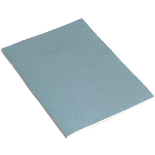 Rhino - Quaderno, 64 pagine, righe da 6 mm, con margini, formato A4, confezione da 10, colore: azzurro