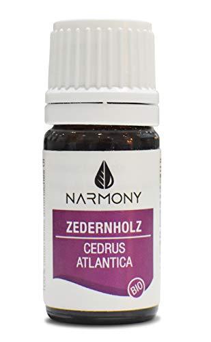 Ätherisches Öl Bio Zedernholz aus Marokko | 100% naturreines Zedernholzöl | Kosmetikum für DIY Naturkosmetik | zur Raumbeduftung und Aroma Diffuser | 5ml
