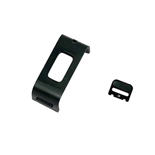 LICHIFIT Plastic Band Clip with Button Charging Clasp Replacement for Fitbit Charge HR Activity Tracker