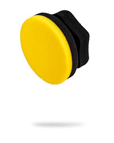 Adam's Yellow Hex Grip Car Wax Foam Applicator - Car Detailing Tool for Waxing Kit Glaze Sealant Liquid Paste Wax Ceramic Coating   Paint & Auto Part Accessories   Car Wash Kit Cleaning Supplies