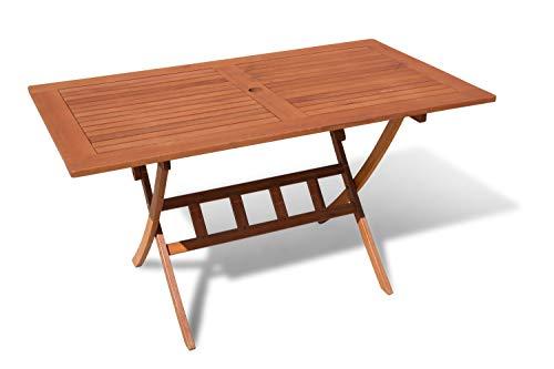Grasekamp kwaliteit sinds 1972 tuintafel Santos 140 x 80 cm klaptafel balkontafel natuur