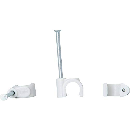 Kopp 342604087 Iso-Schellen 4 -7 mm, mit gestifteten Stahlnadeln 30 mm, 50 Stück, grau