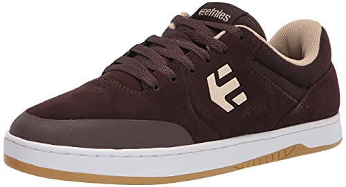 Etnies Men's Marana Low Top Sneaker Shoes Brown/White 8.5