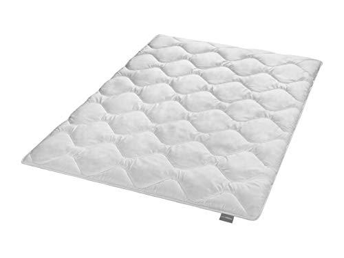 Traumnacht 4-Star dünne und Leicht Sommerdeckee Bettdecke, aus Baumwollmischgewebe, 135 x 200 cm, waschbar, weiß