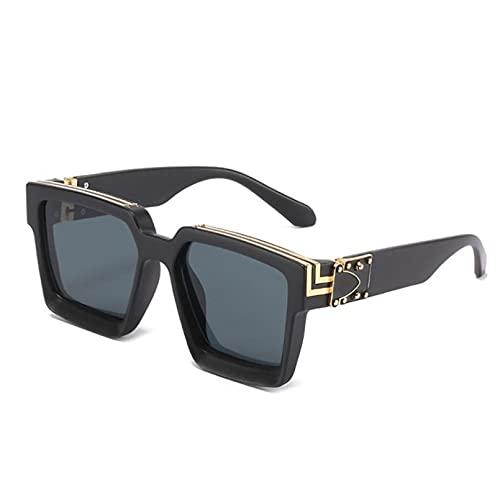 YTYASO Gafas de Sol Candy para Mujer, Gafas de Sol cuadradas Steampunk para Hombre, Gafas de Sol Grandes Laterales de Metal a la Moda para Mujer