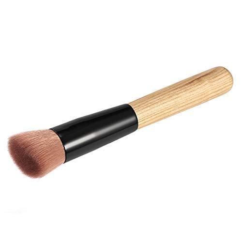 Pennytupu Maquiagem Multifonction Maquillage Brosse Fibre Souple Fond Plat Fond De Teint Poudre Brosse Coudée Outil Cosmétique
