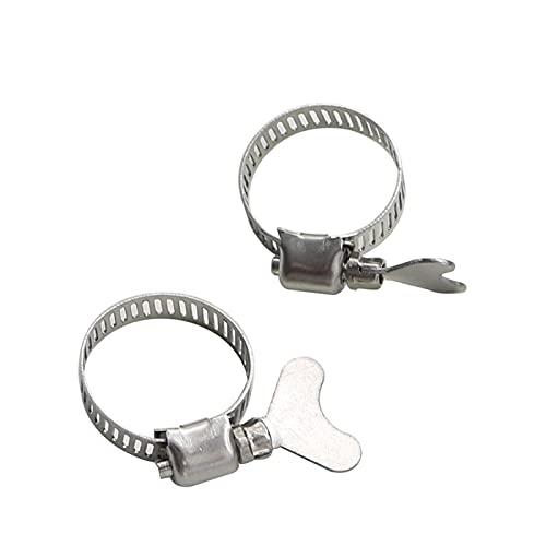 Pinzas de manguera de 16-20mm Abrazaderas de tubo de acero inoxidable ajustables Abrazaderas de tubería con tubo de mango Gusano Gusano clips de tubería de plomería Fastradera