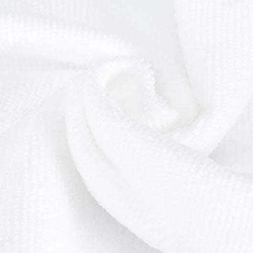 Eosnow Toalla Deportiva, Toalla de Ejercicio 30x30cm Blanco 10 Piezas de Microfibra para baño para Yoga