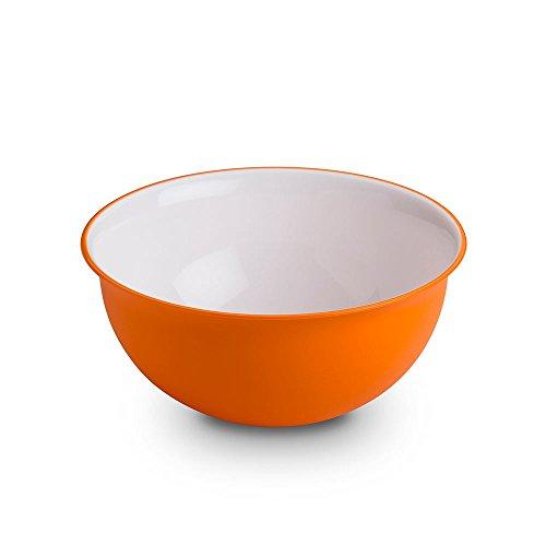 Omada Design Insalatiera 1,5 litri, misure: 20 x h 9 cm bianca dentro, colorata fuori, in plastica e Microban antibatterico,adatta a MICROONDE e infrangibile,da cucina,linea Sanaliving