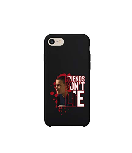 GlamourLab Stranger Things Eleven Friends Not Lie Character Face Quote_R5435 Protective Case Cover Hard Plastic Compatible with For iPhone 6 Funny Gift Christmas Birthday Novelty