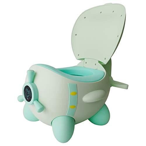 Glenmore Vasino per Bambini WC Toilette per Bambino Portatile da Viaggio Mini Vasetto Water Sedia Orinatoio per Bimbo Bimba, Verde