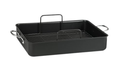 t fal roasting pans T-fal A85797 Specialty Nonstick 16 x 13 x 3-Inch Roaster Cookware, 16-Inch by 13-Inch, Gray