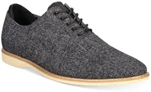 bar III Men's Dylan Lace-up Oxfords, Black Wool Size 10