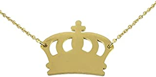 Utkarsh Golden Color Fancy & Stylish Trending Valentine's Day Special Metal Stainless Steel King Queen Crown Logo Locket P...