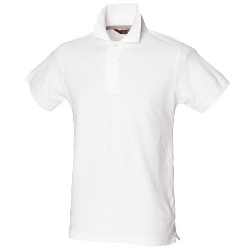Skinni Fit - Polo à Manches Courtes - Homme (2XL) (Blanc)