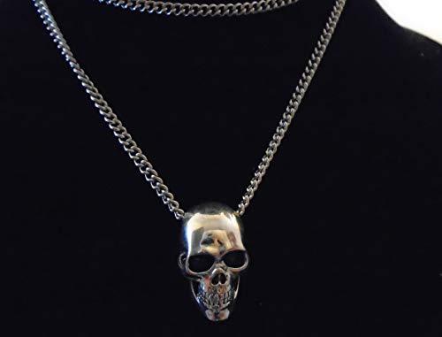 Hi dettagliata qualità ARGENTO della collana del cranio con 69 cm d'argento grosso catena nuovissimo con l'etichetta, autentica chiave originale occidentale Gypsy, made in USA
