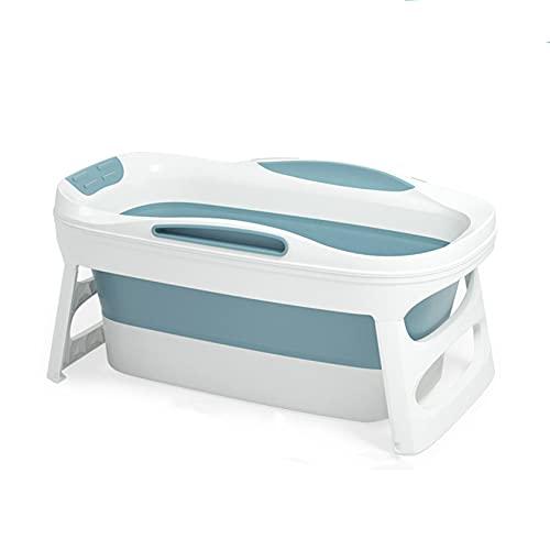 SYN-GUGAI Vasca da Bagno Pieghevole, Vasca da Bagno Portatile per Adulti, Vasca da Bagno Pieghevole per Adulti, Vasca da Bagno Ispessita per Adulti, Botte da Bagno in plastica,Blue