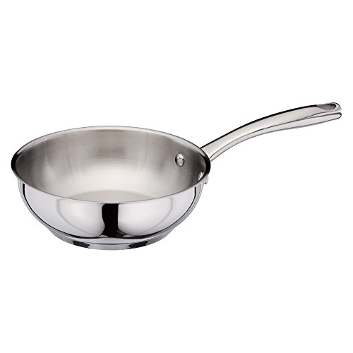Stellar Speciality Cookware 20cm Stainless Steel Chef's Pan, ALL Hob Types