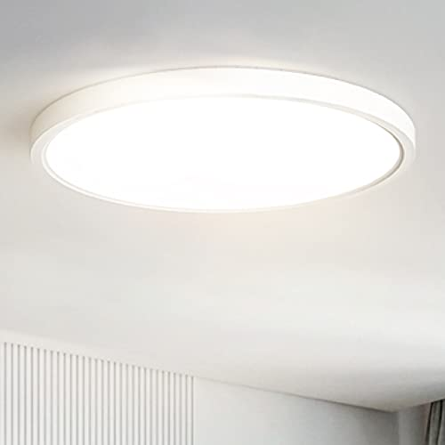 Anten LED Deckenleuchte TARA | Deckenlampe 24W Ultraslim Rund Ø30x2,4cm | Neutralweiß 4000K Deckenleuchten | weiße Lampe für Flur, Wohnzimmer, Kinderzimmer, Küche, Büro, bathzimmer, oder Schlafzimmer