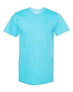 American Apparel 2001W Unisex Fine Jersey Short-Sleeve T-Shirt Turquoise XL