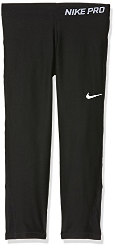Nike Hose K-Caprihose Pro Cool Mallas Capri-Niña, Niñas, Negro/Blanco, XS
