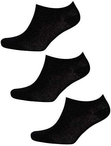 Tokyo La&ry Damen Sneaker-Socken, 3 Stück Gr. 36/40 EU, Schwarz