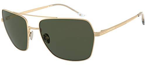 GIORGIO ARMANI Occhiali da sole AR6105 30029A occhiali Uomo colore Oro lente verde taglia 62 mm