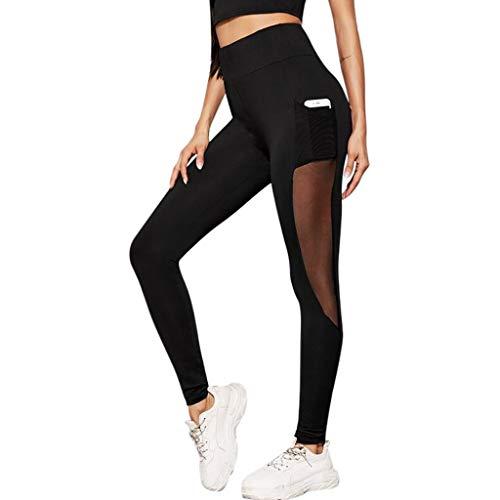 ZuzongYr – Pantalones deportivos para mujer, cintura elástica, chándal resistente, informal, pantalones de seguridad, elásticos, pantalones de yoga, ropa negro (schwarz 1) S