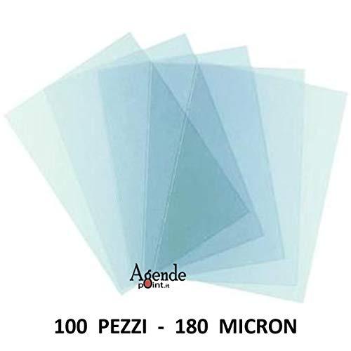 Copertine acetato trasparente per rilegatura 100 fogli 180 micron a4 lucide 21x29