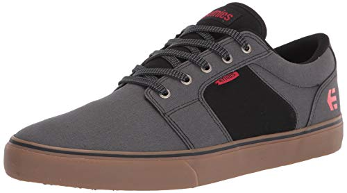 Etnies mens Barge Preserve Bloom Eco Skate Shoe, Grey/Black/Gum, 10 US