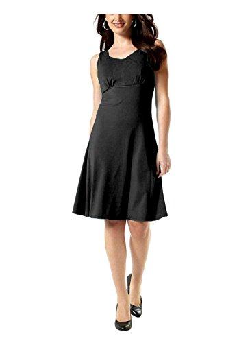 Vivien Caron Damen-Kleid Kleid Schwarz Größe 34