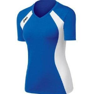ASICS Women's Aggressor Volleyball Jersey (Royal/White), Medium