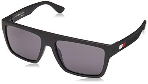 Tommy Hilfiger TH 1605/s, Gafas de Sol Hombre, Matte Black, 56