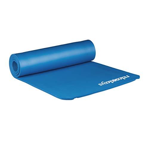 Relaxdays geposltert Yogamatte, blau, M