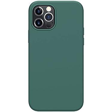"Nillkin Case for Apple iPhone 12 / Apple iPhone 12 Pro (6.1"" Inch) Flex Pure Case Liquid Silicon Finish Anti Finger Print with Inner Microfibre Green Color"