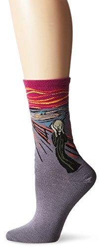 Hot Sox Munch's The Scream Cranberry Socken Crew