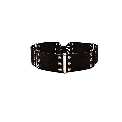 Retro Women Belt Wide Waist Belt Women's Dress Tassel Belt Knotted Decorated Black