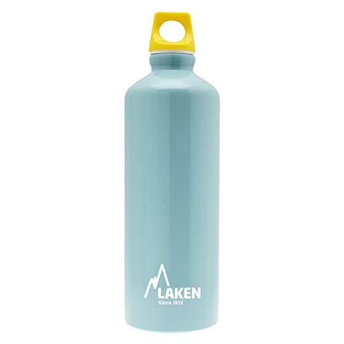 Laken Futura Botella de Agua, Cantimplora de Aluminio Boca Estrecha 1L, Azul Claro