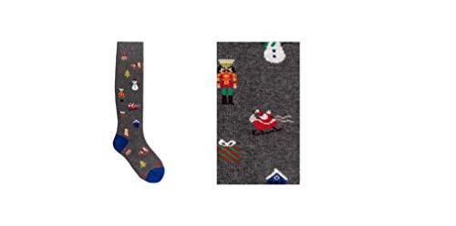 Gallo Calze bambino lungo fantasia micro oggetti natalizi AP510914 pirite (10(35/38))
