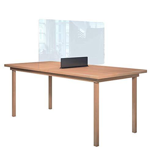 Rulopak Glastrennwand Plexiglas Aufsteller Tisch Metall, Trenner, Trennwand, Spuckschutz, Glas (B 120 cm x H 61,60 cm)