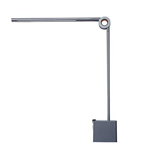 LICHUAN Lámpara de escritorio con luz LED para escritorio, 3 modos de iluminación, regulable, lámpara de lectura, para oficina, dormitorio, estudio, escritorio (color: gris)