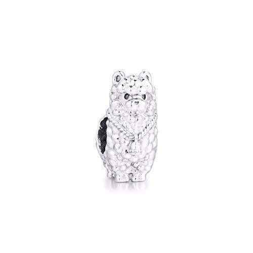 Fluffy Llama Charms 925 Original Fit Pandora Bracelets Sterling Silver Charm Beads For Women Jewelry Making Diy