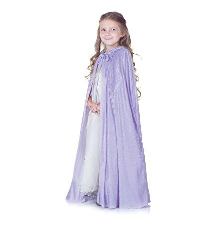 Kid's Lavender Panne Purple Princess Renaissance Elegant Cape - Lavender Panne Cape