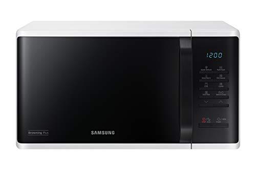 Samsung MG23K3513AW/EG Mikrowelle mit Grill / 800 W /23 L Garraum / 48,9 cm Breite / Quick Defrost / 27 Automatikprogramme / weiß